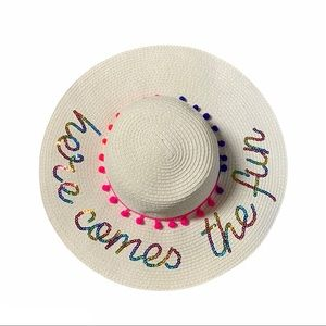 Here Comes The Fun Summer Straw Hat